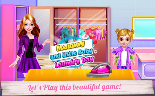 mommy and little baby laundry day screenshot 3