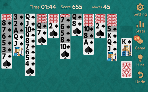 Spider Solitaire: Kingdom  screenshots 9