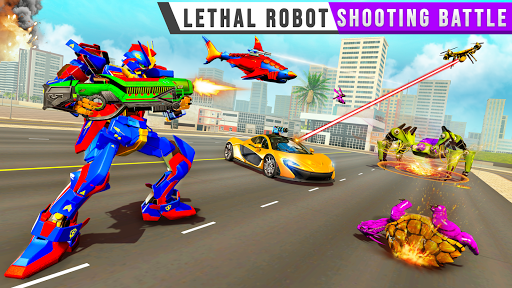 Real Shark Robot Car Game u2013 Police Truck Robot  screenshots 15