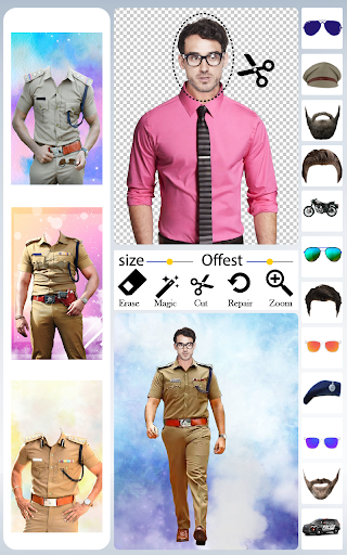 Men Police Suit Photo Editor android2mod screenshots 1