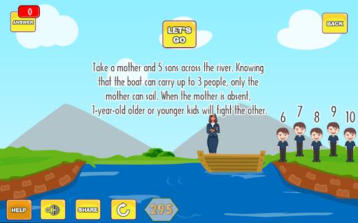 River Puzzle - IQ Test Mind 2.5 screenshots 8