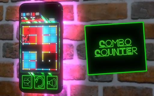 Dots and Boxes (Neon) 80s Style Cyber Game Squares apkdebit screenshots 7