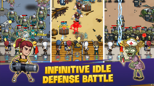 Zombie War: Idle Defense Game apkslow screenshots 7