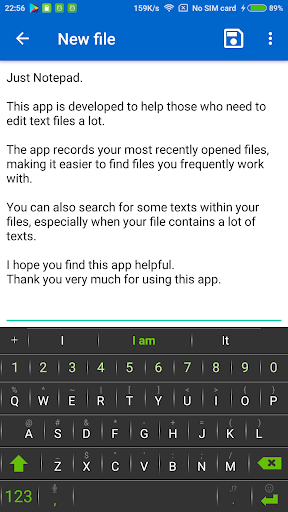 Just Notepad - Simple Notepad w/ File Browser  Screenshots 5