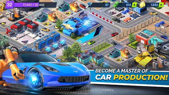 "Download Overdrive City – Car Tycoon Game attractive management game ""City of Cars"" Android! 1"