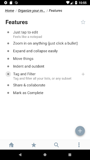 WorkFlowy - Notes, Lists, Outlines modavailable screenshots 2