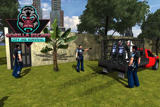 Gorilla Escape City Jail Survival screenshots 13