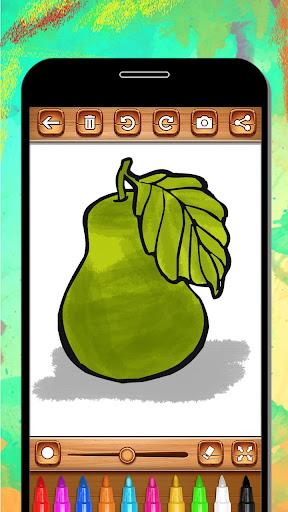 Fruits Coloring Book & Drawing Book android2mod screenshots 10