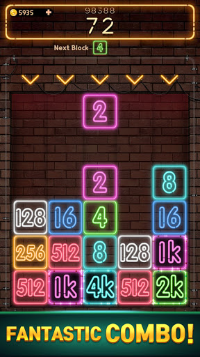 Drop Number : Neon 2048 1.0.5 screenshots 5
