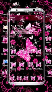 Pink Black Butterfly Theme For Pc, Windows 10/8/7 And Mac – Free Download 1