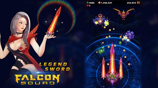 Falcon Squad: Galaxy Attack - Free shooting games Apkfinish screenshots 8