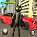 Bat Rope Hero Stickman Crime - Gangster Mafia Game