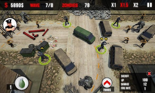 NY Police Zombie Defense 3D New Tower Defense Game Screenshot