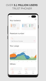 Phoner 2nd Phone Number + Texting & Calling App 5.6 Screenshots 4