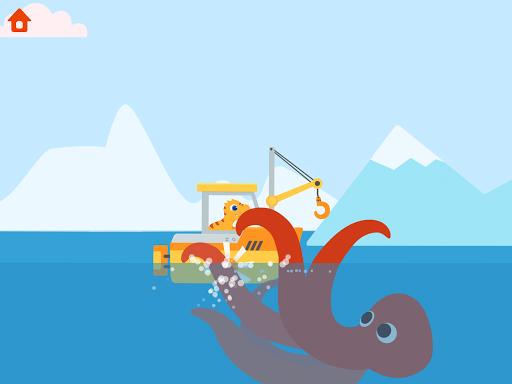 Dinosaur Patrol Boat - Coast Guard Games for kids apkmr screenshots 22