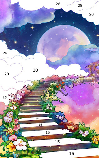 Bible Coloring - Paint by Number, Free Bible Games  screenshots 10
