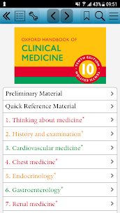 Oxford Handbook of Clinical Medicine, Tenth Ed. 2.3.1 MOD for Android 1