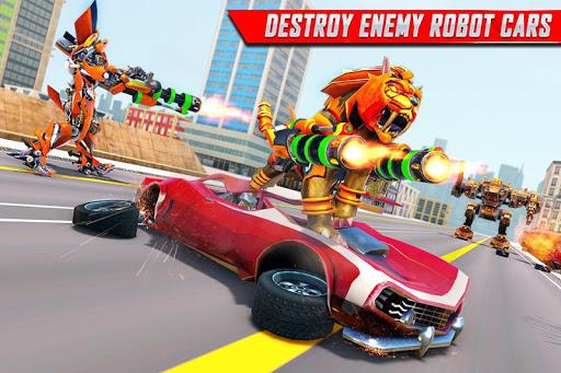 Lion Robot Car Transforming Games: Robot Shooting 1.8 Screenshots 3