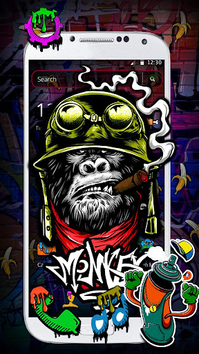 Monkey Graffiti Theme 1.1.3 screenshots 1