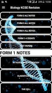 Biology Form 1-4 notes + past papers KCSE Revision