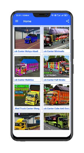 Mod Bussid Truck Wahyu Abadi : 2021 13.0 Screenshots 1