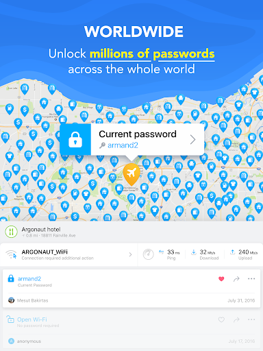 Free WiFi Passwords, Offline maps & VPN. WiFi Mapu00ae  Screenshots 11