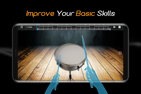 Easy Real Drums-Real Rock and jazz Drum music game Screenshot