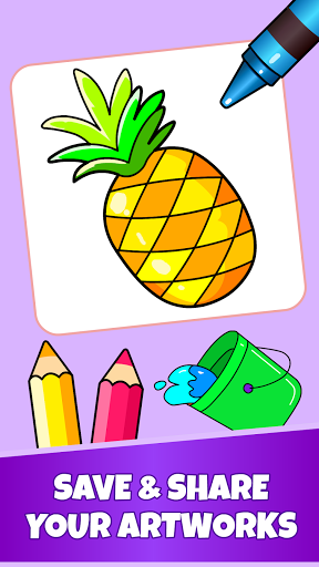 Fruits Coloring Pages - Game for Preschool Kids 1.0 screenshots 6