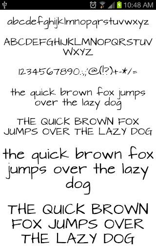 fonts hand for flipfont® free screenshot 1