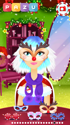 Girls Hair Salon Christmas - Hairstyling for kids 1.03 screenshots 5