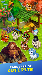 Free Farmdale  farming games  town with villagers Apk Download 2021 3
