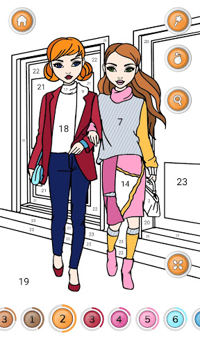 Girls Coloring Book - Color by Number for Girls  Screenshots 5