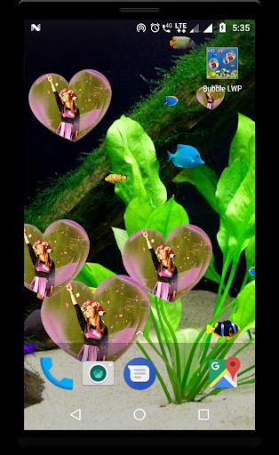 Bubble photo live wallpaper with aquarium 1.5 screenshots 6