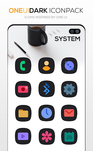 Download APK: ONE UI DARK Icon Pack v3.6 [Patched]