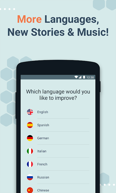 Beelinguapp: Learn Languages Music & Audiobooks  poster 1