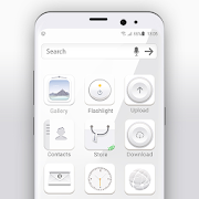 White launcher theme &wallpaper