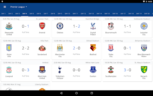 EPL Live: English Premier League scores and stats