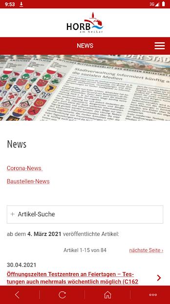 Horb-App screenshot 2