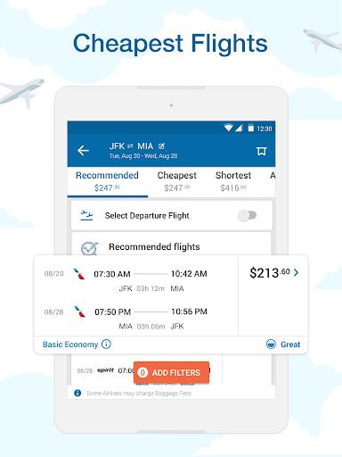 CheapOair: Cheap Flights, Cheap Hotels Booking App 3.20.18 Screenshots 8
