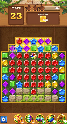 Jungle Gem Blast: Match 3 Jewel Crush Puzzles  screenshots 7
