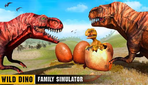 Wild Dino Family Simulator: Dinosaur Games android2mod screenshots 2