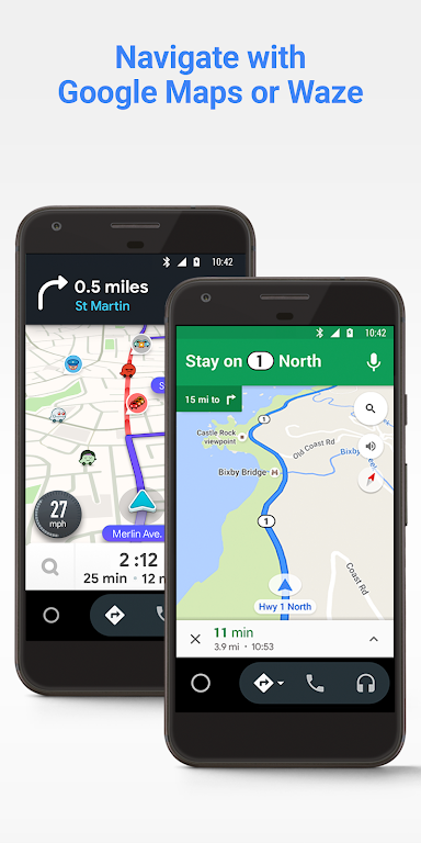 Android Auto - Google Maps, Media & Messaging  poster 1