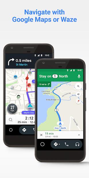 Android Auto - Google Maps, Media & Messaging screenshot 1