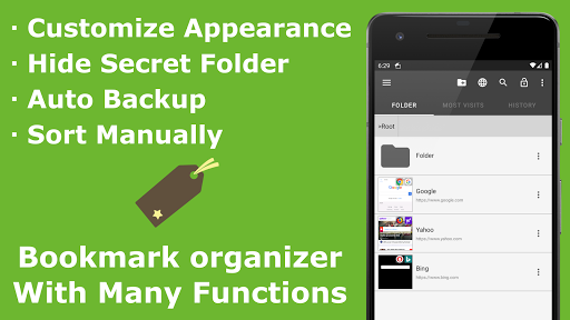 Download APK: Bookmark Folder v4.1.9 [Unlocked] [Mod Extra]