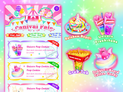 Unicorn Chef Carnival Fair Food Games for Girls 2.2 Screenshots 5