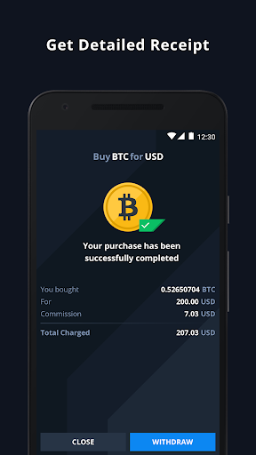 CEX.IO Cryptocurrency Exchange - Buy Bitcoin (BTC)  Screenshots 7