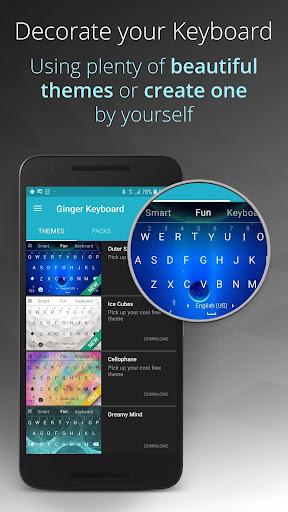 Ginger Keyboard - Emoji, GIFs, Themes & Games 9.5.1 Screenshots 6