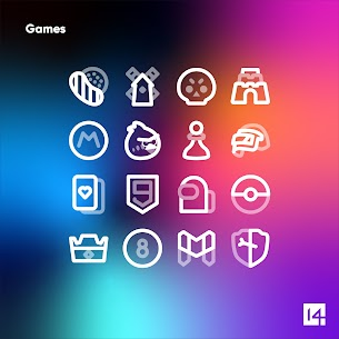 Aline White icon pack Apk- linear white icons (Paid) 8