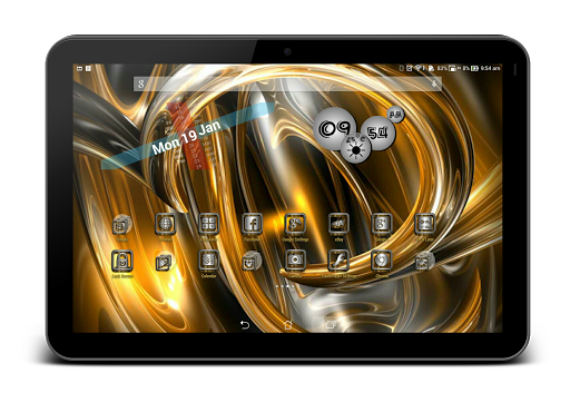 SilverGold 3D Icon CM&Launcher For PC Windows (7, 8, 10, 10X) & Mac Computer Image Number- 18