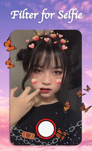 Filter for Selfie - Sweet Snap Face Camera  Screenshots 10